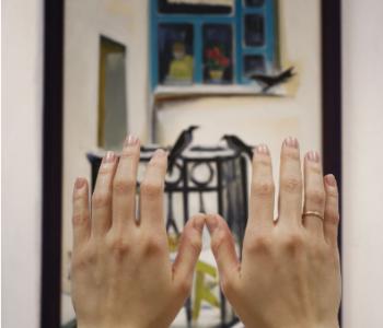 Презентация тактильной интерпретации картины Л. Д. Щемелёва «Зима за окном»